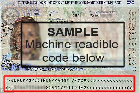 VISA-sample-machine-readible-code Πρόγραμμα απαλλαγής από την υποχρέωση θεώρησης (Visa Waiver Program)